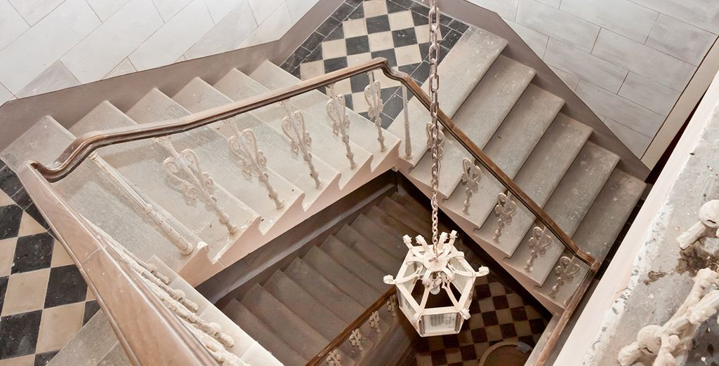 Such as grand sweeping staircases