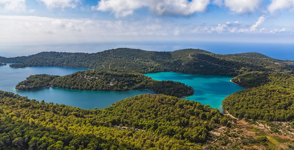 Proceed to Mljet, one of the greenest islands in Croatia