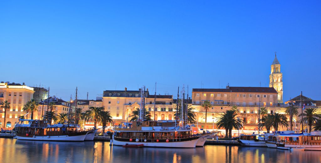 Continue sailing to the historic city of Split