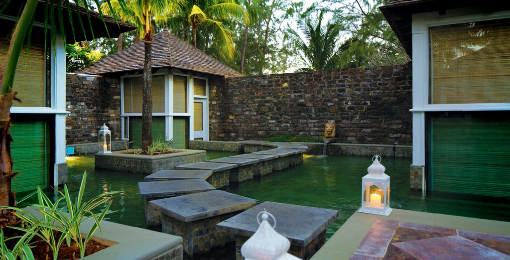 Indulge yourself in the spa tucked away in an exquisite garden setting