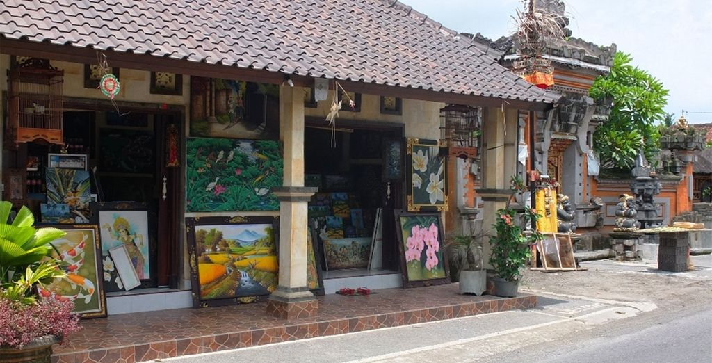 And Ubud - the arts and crafts centre of the island