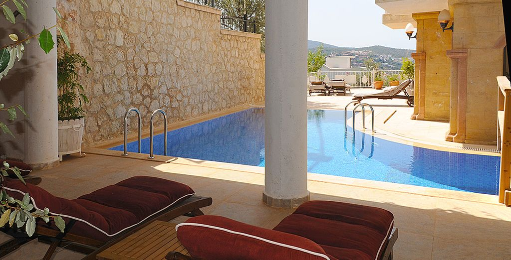 The hotel also boasts a shared pool