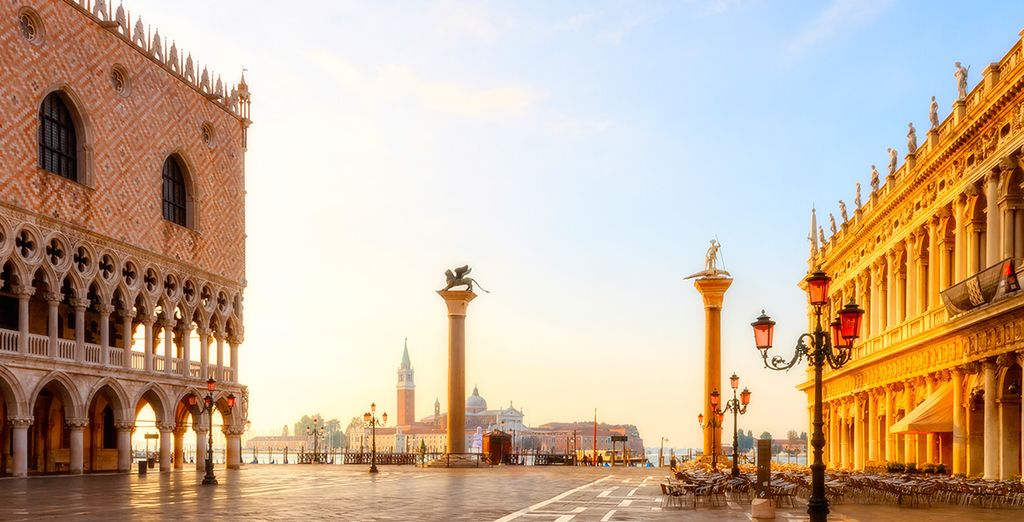 Afterwards, go out and discover exciting landmarks such as St Mark's Square