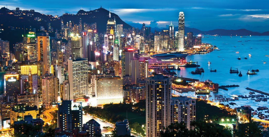 Start your journey in Hong Kong, a vibrant and diverse city