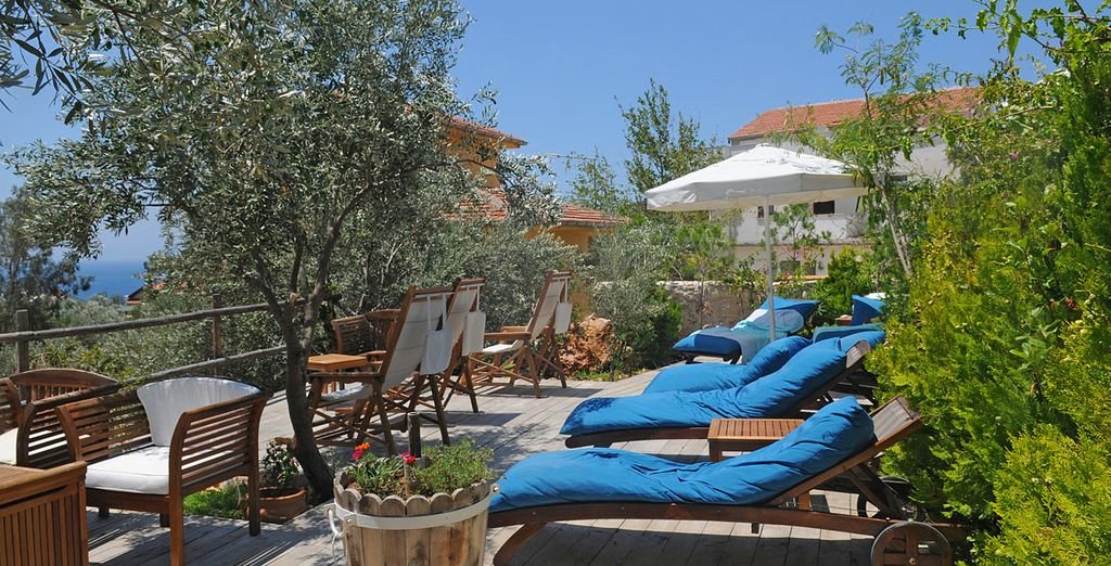 Soak up the gorgeous, sunny weather as you doze on a sun lounger