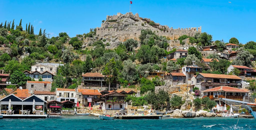 Proceed to Kekova, famous for its submerged ruins