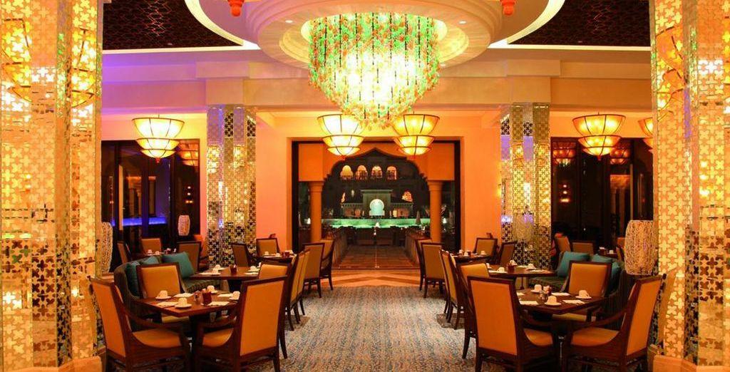 Dine lavishly at a number of restaurants