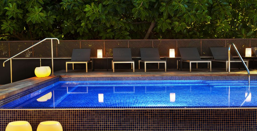 This hotel boasts a fabulous plunge pool, perfect for cooling off during the summer months