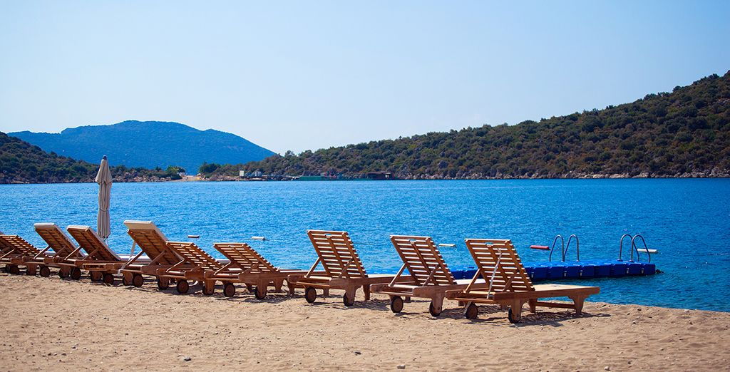 Enjoy sunny, relaxed days on the private beach