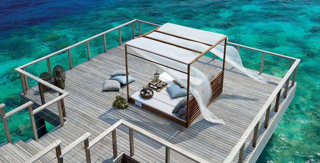 Bask in the Maldivian sunshine