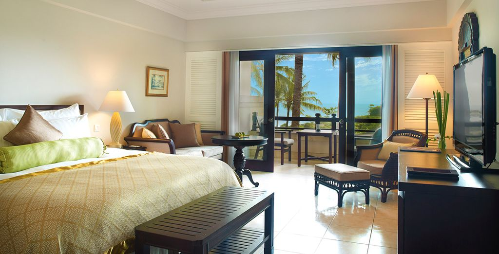 Make the most of your stay in a spacious Superior Ocean View Room