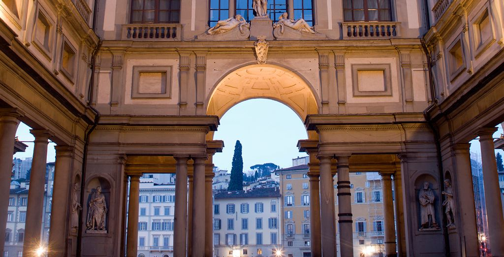 The compact city is easy to explore, with landmarks such as the Uffizi Gallery right on your doorstep