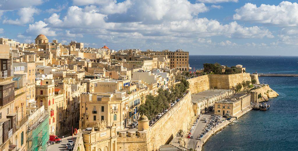 Venture through the elegant Valletta