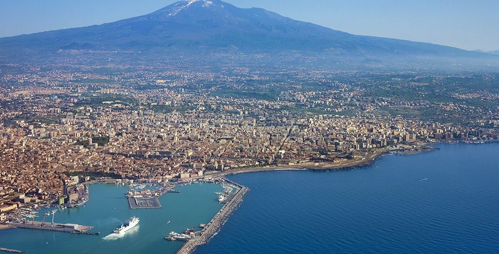 And magnificent Mount Etna, the largest volcano in Europe