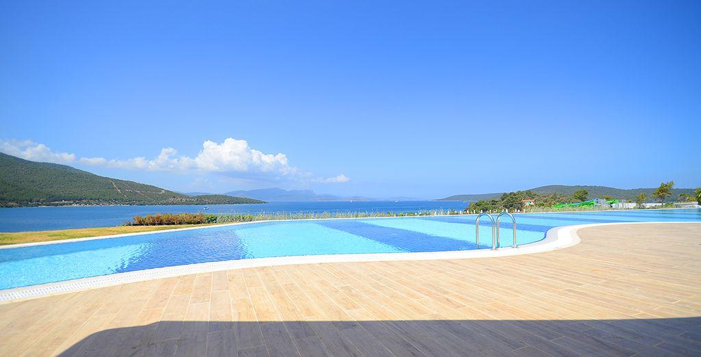 Admire panoramic sea views...