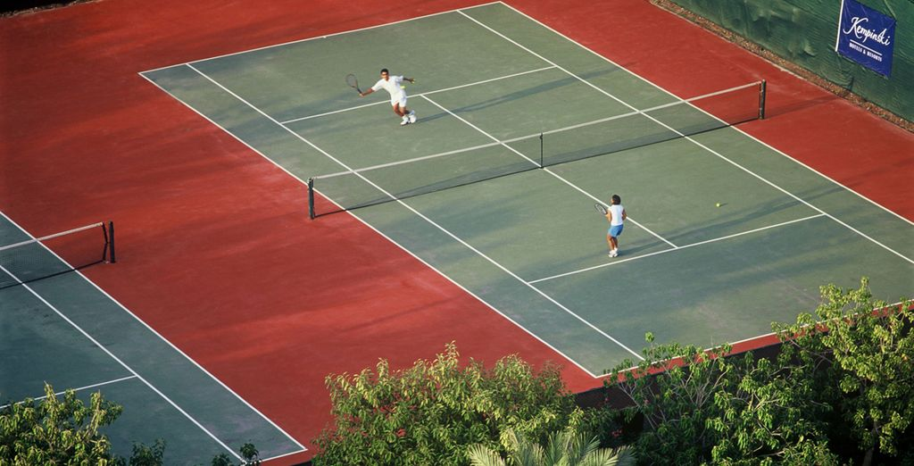 Work up a sweat on the tennis courts