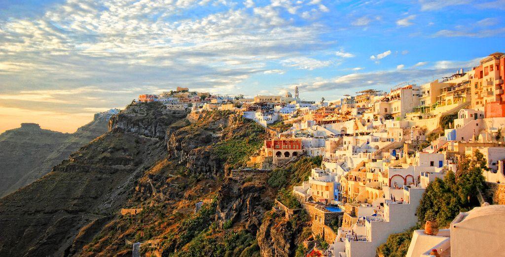 In the awe-inspiring beauty of Fira, Santorini - Aressana Spa Hotel 5* Santorini