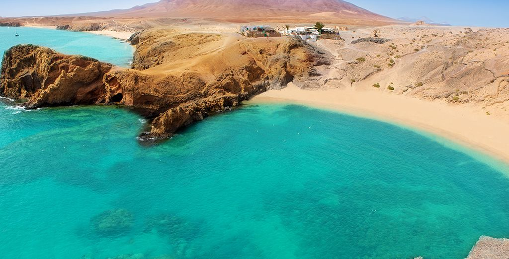 The nearby Papagayo beach is paradise