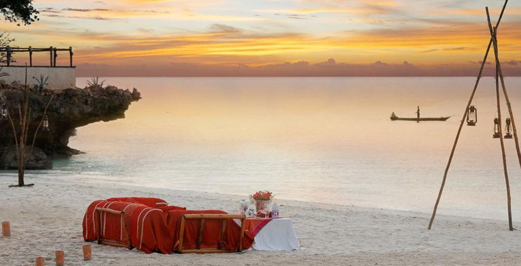 Then watch the sunset on this exotic paradise