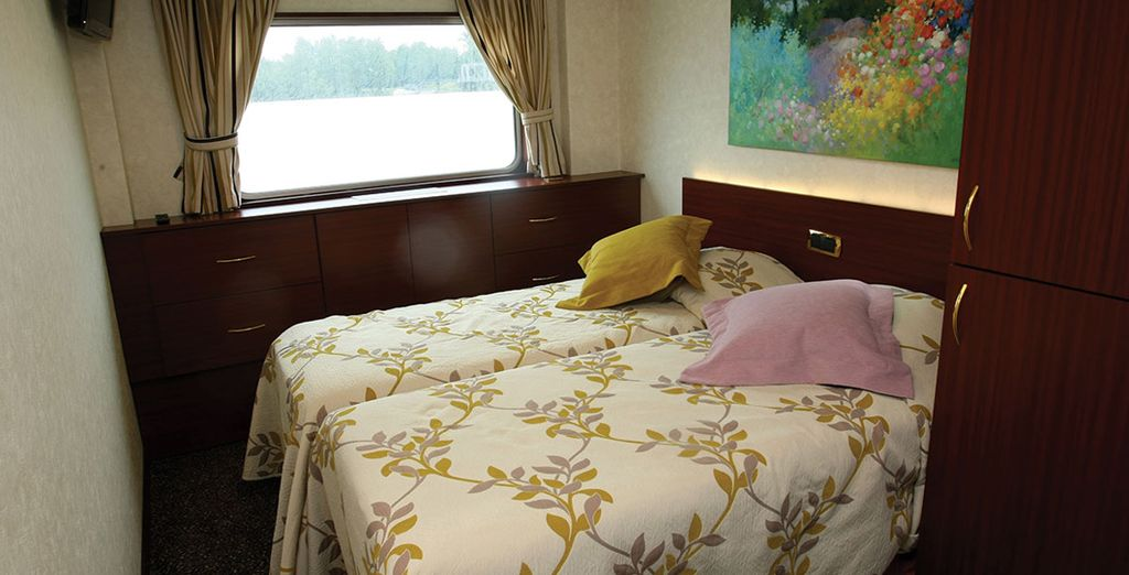 Sleep in a Lower Deck Cabin and enjoy restful nights