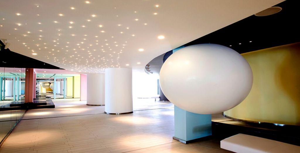 Features unique, contemporary interiors