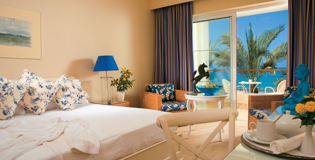 Stay in a spacious Double Sea View Room