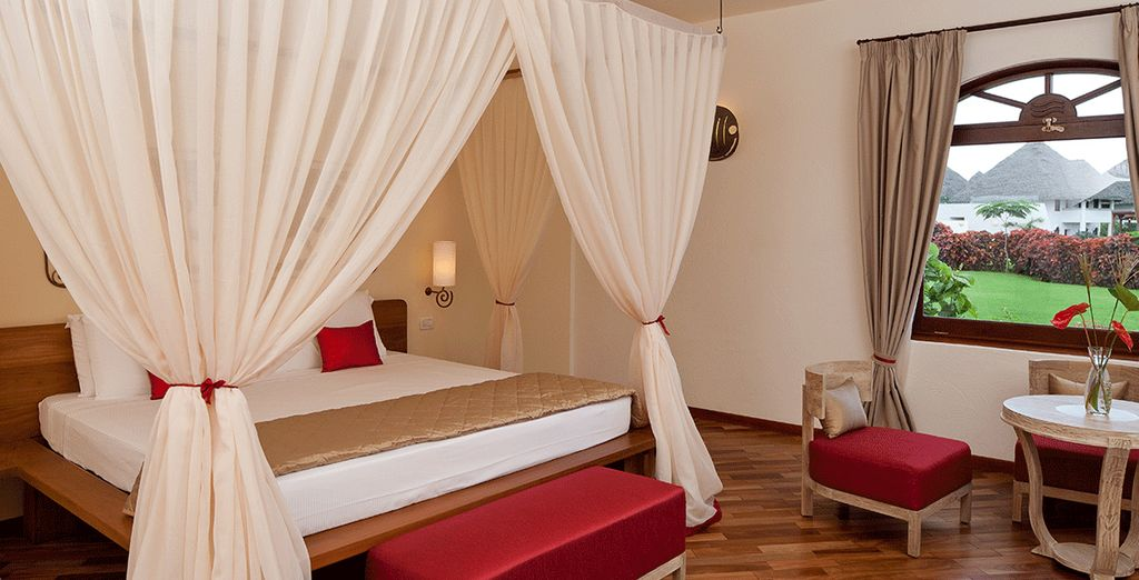 Stay in a luxurious Garden Suite