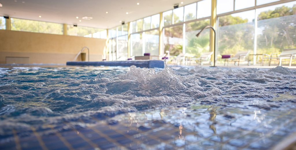 Check out the spa, where you have free entry