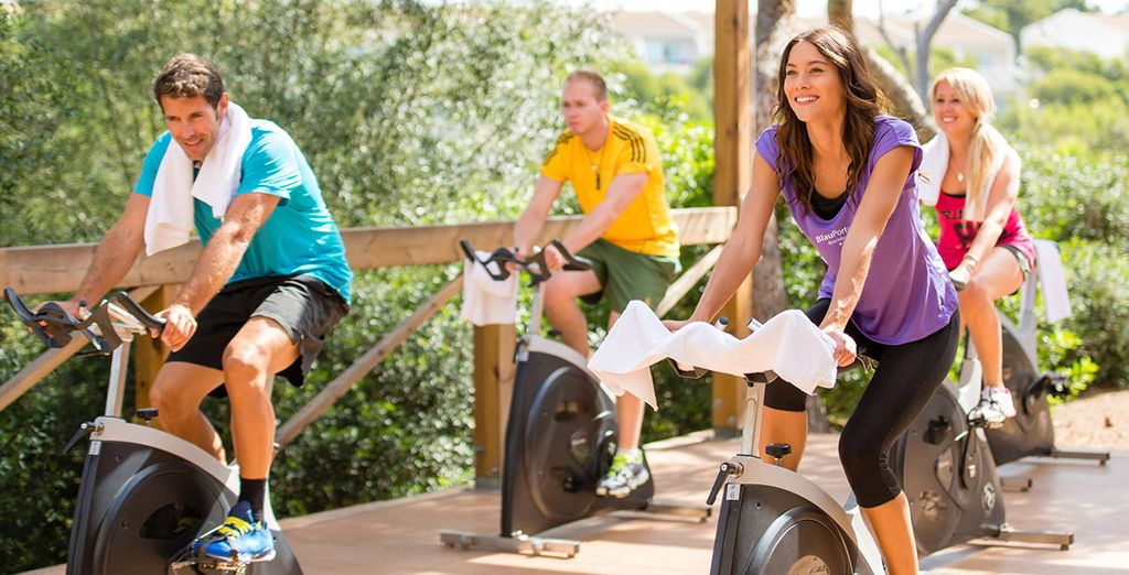Or work up a sweat in one of the many fun fitness activities