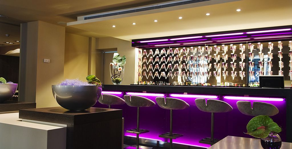 End the day with drinks at the stylish bar