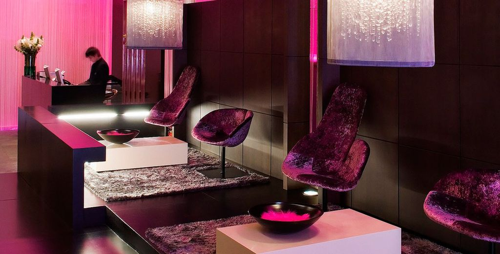 Admire the vibrant, cutting edge style of Hotel 987