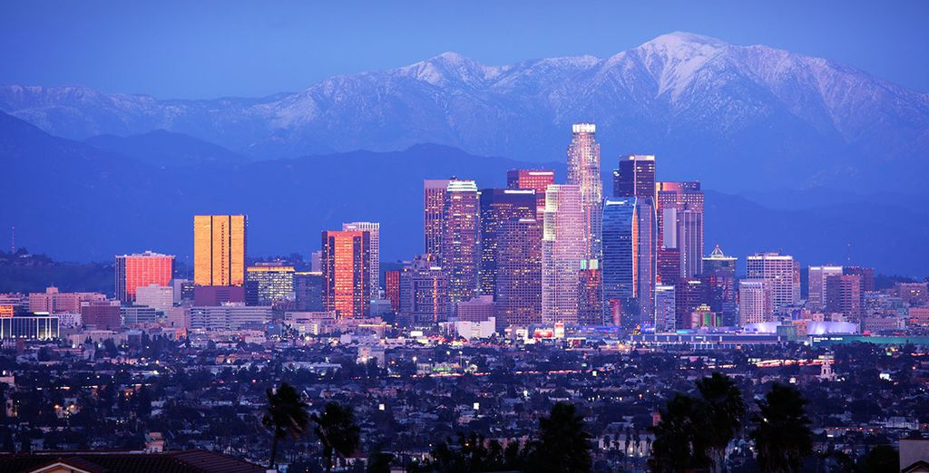 Start in the glamorous city of angels, Los Angeles