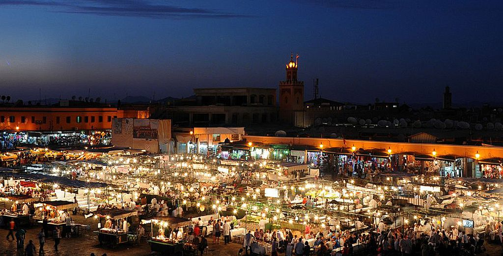 In the exciting city of Marrakech