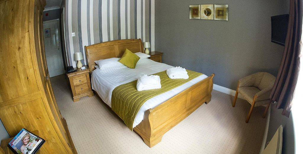 Be greeted by homely interiors and make your way to your cosy room