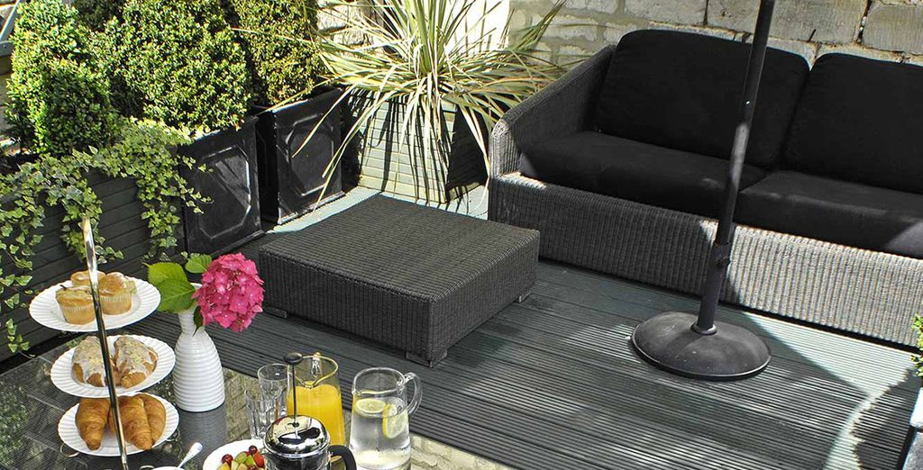 Why not enjoy it in the garden if the sun is shining
