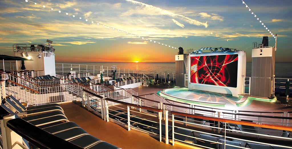 This is a luxury cruise ship experience....