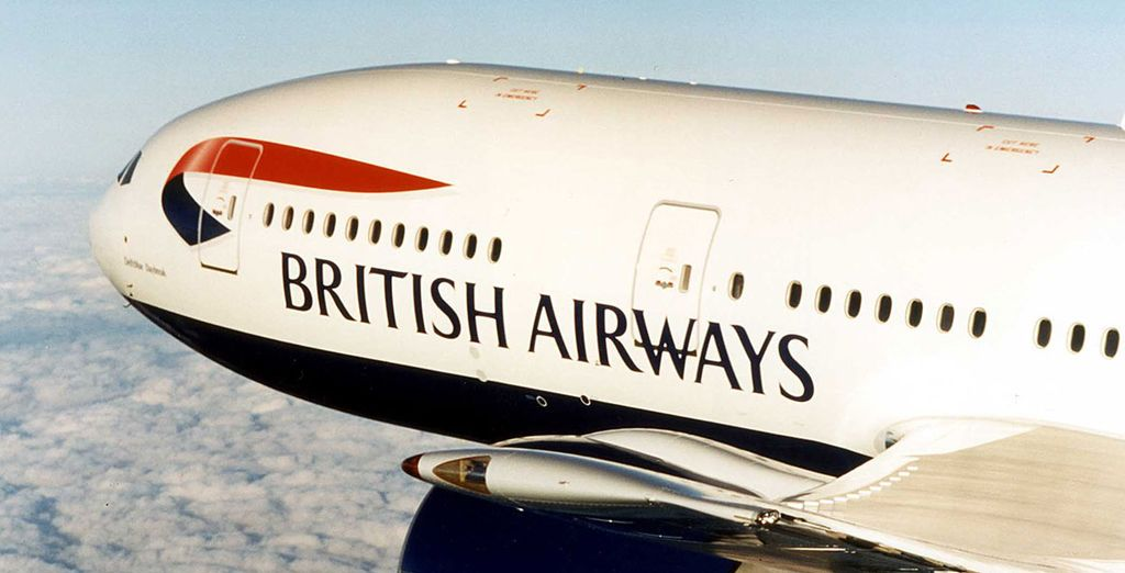 Flights from London are with British Airways!