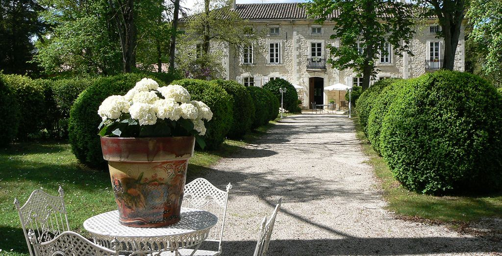 Staying at the idyllic Chateau de l'Hoste
