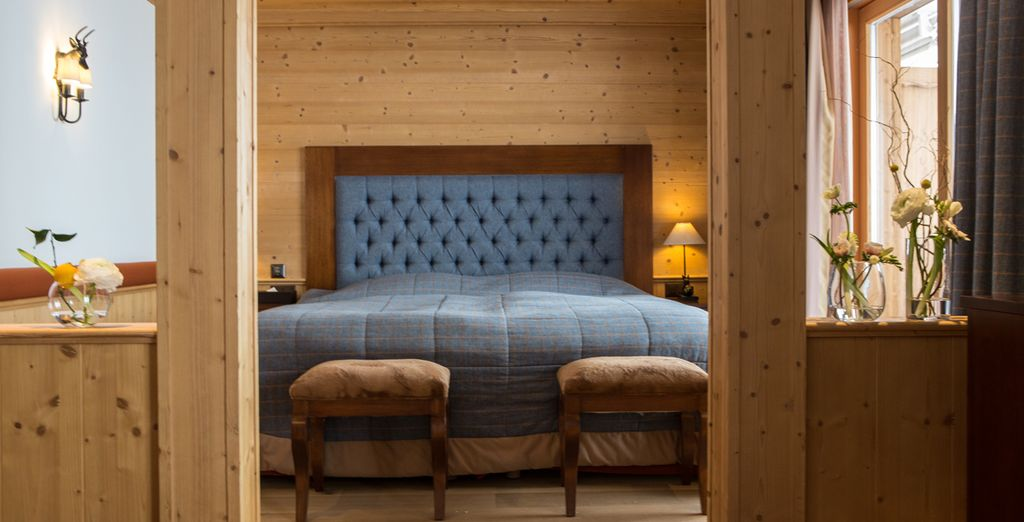 Designed with rich, wooden panelling
