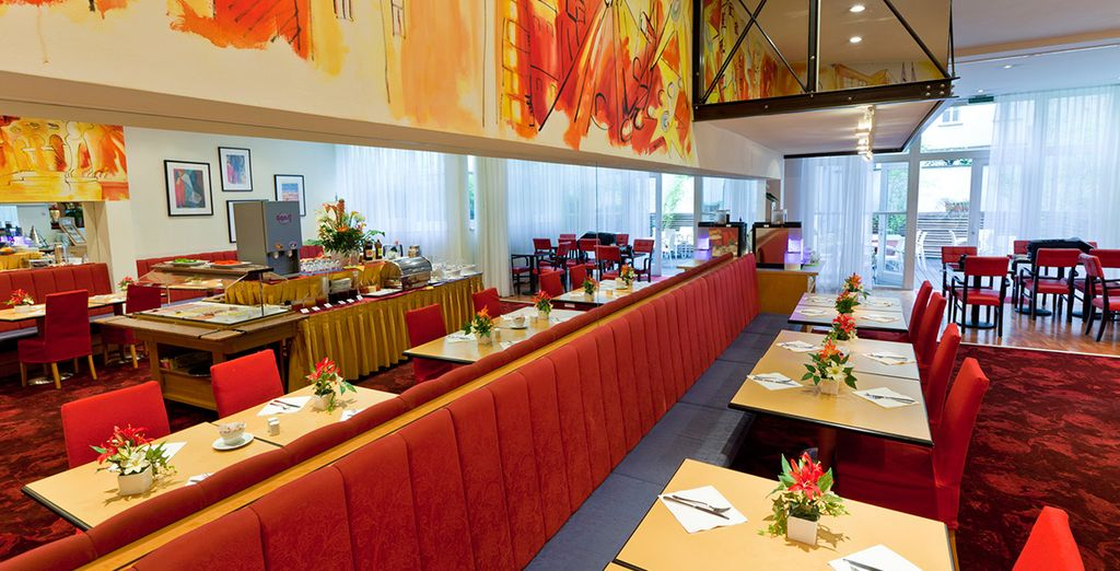 Enjoy a hearty buffet breakfast before your day of sightseeing