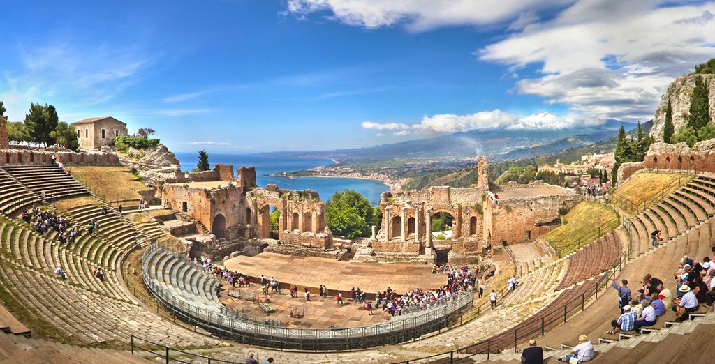 Or discover the local history at Taormina