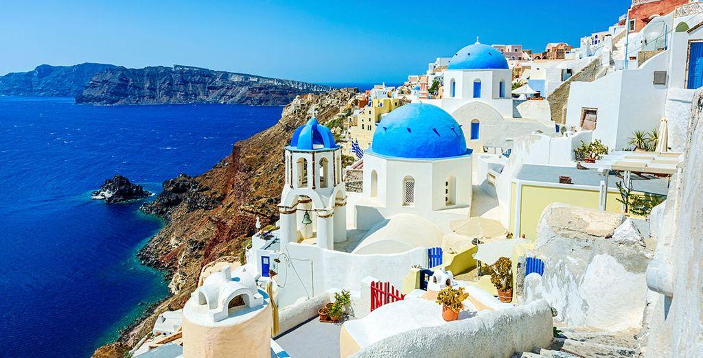 In the wonderful Oia, Santorini
