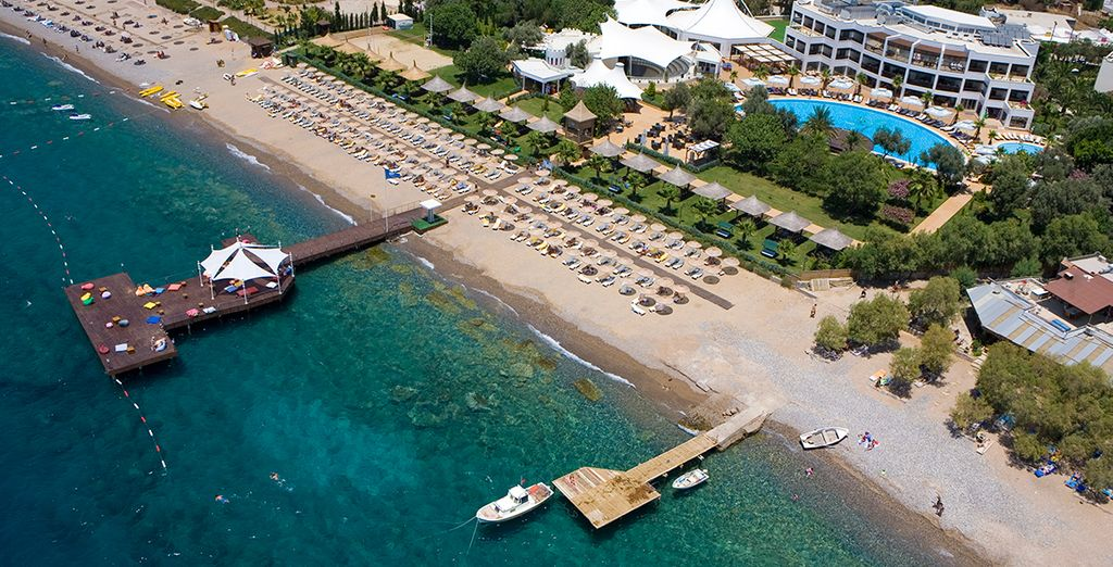 Live the high life on the hotel's private beach