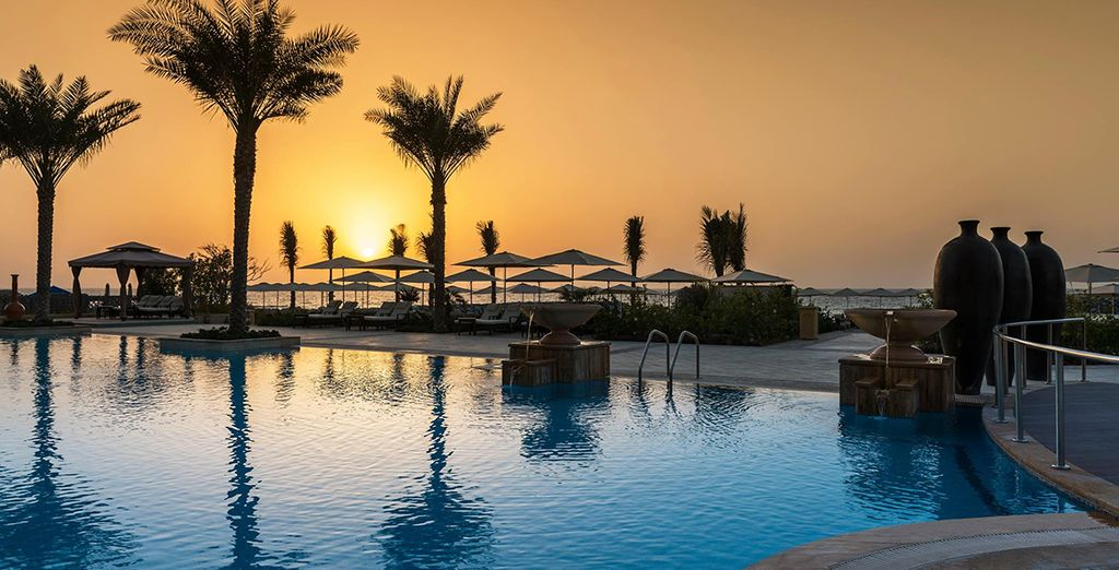 Then watch the sunset over the Arabian Gulf...