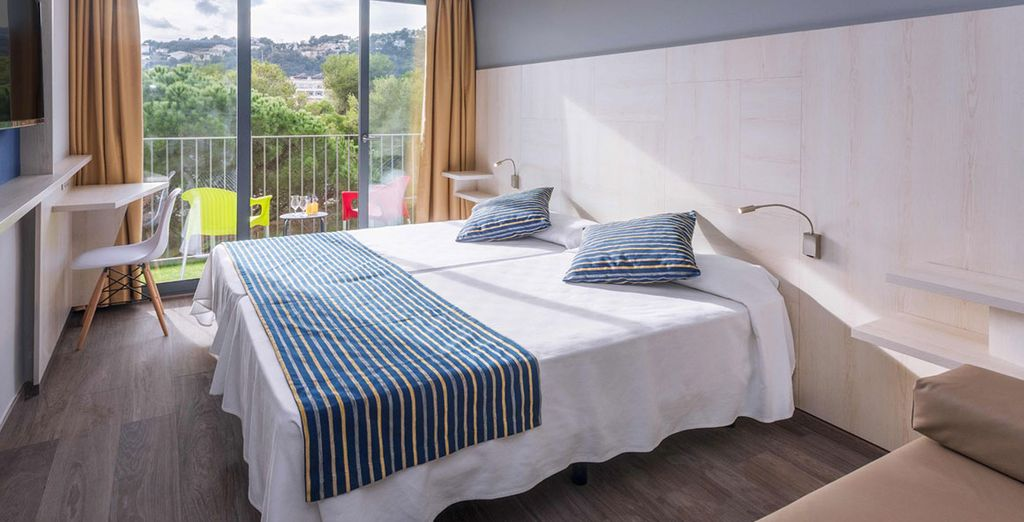 Stay in a light and welcoming double room