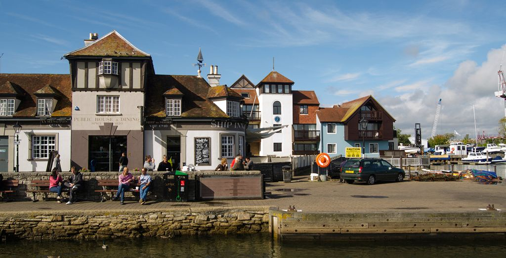 To the quaint port town of Cowes on the Isle of Wight