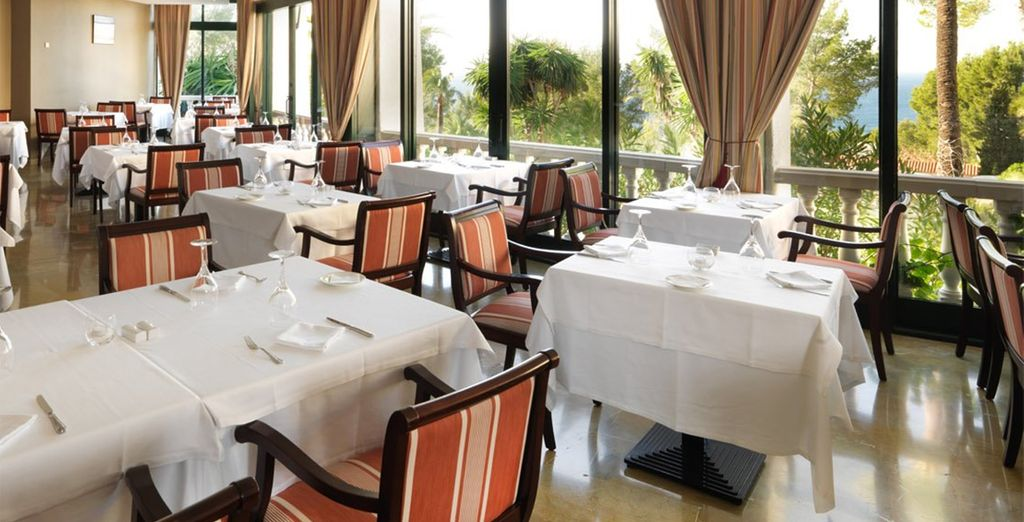 Then enjoy a delicious evening meal - half board dining is included