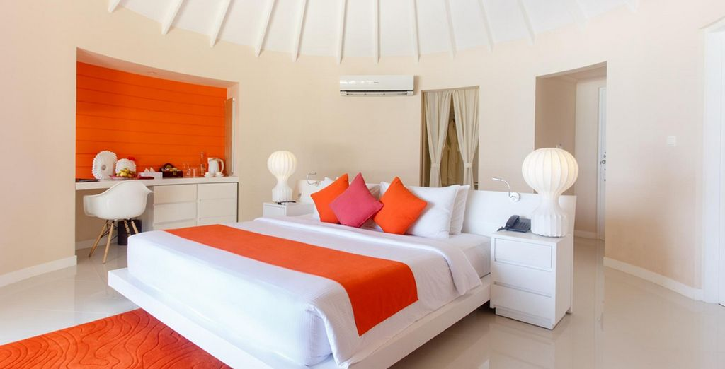 Our members will be staying in a beautiful Jacuzzi Deluxe Beach Villa
