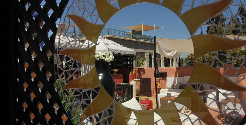Step out onto the sun terrace
