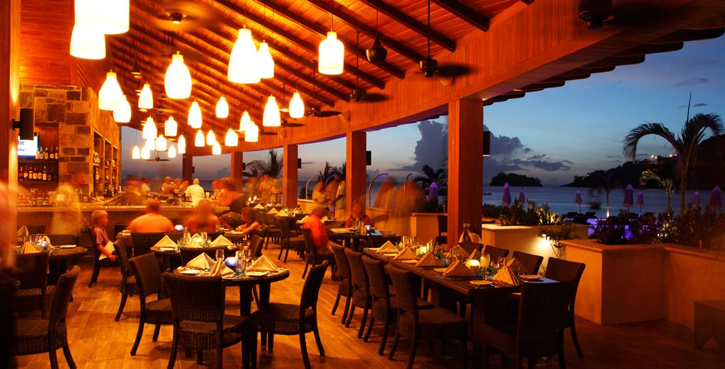 Enjoy a beach front dinner for two